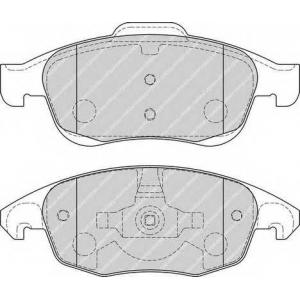 Комплект тормозных колодок, дисковый тормоз fdb1971 ferodo - CITRO?N C4 (B7) Наклонная задняя часть 1.6 VTi 120