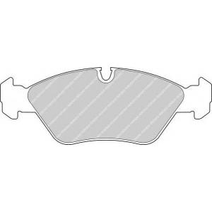 Комплект тормозных колодок, дисковый тормоз fdb256 ferodo - BMW 3 (E30) седан M3 2.3