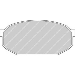 FERODO FDB291 Комплект тормозных колодок, дисковый тормоз Мазда 929