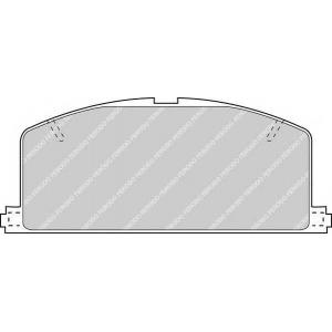 FERODO FDB308 Колодки тормозные дисковые, к-кт.