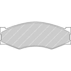 FERODO FDB340 Комплект тормозных колодок, дисковый тормоз Инфинити М-30