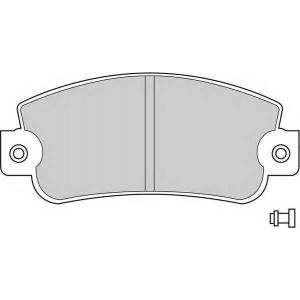 FERODO FDB346 Комплект тормозных колодок, дисковый тормоз Фиат 147 Панорама