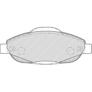 FERODO FDB4003 Гальмівні колодки, дискові