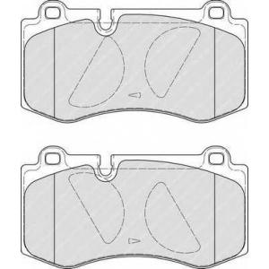 Комплект тормозных колодок, дисковый тормоз fdb4055 ferodo - MERCEDES-BENZ S-CLASS (W221) седан S 400 Hybrid (221.095, 221.195)