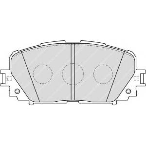 Комплект тормозных колодок, дисковый тормоз fdb4081 ferodo - TOYOTA YARIS (_P13_) Наклонная задняя часть 1.3