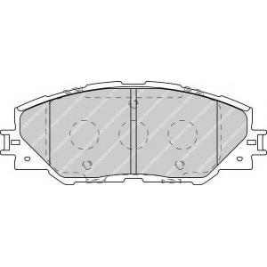 FERODO FDB4136 Гальмівні колодки, дискові