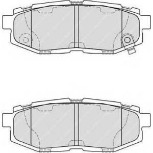 Комплект тормозных колодок, дисковый тормоз fdb4187 ferodo - SUBARU TRIBECA (B9) вездеход закрытый 3.0