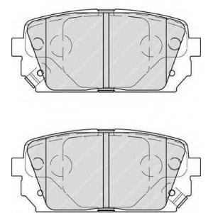 FERODO FDB4193 Гальмівні колодки, дискові