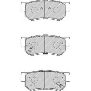 Комплект тормозных колодок, дисковый тормоз fdb4247 ferodo - HYUNDAI ELANTRA седан (HD) седан 1.6 CVVT