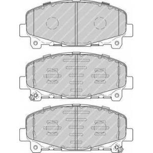 Комплект тормозных колодок, дисковый тормоз fdb4270 ferodo - HONDA ACCORD IX (CU) седан 2.0 i