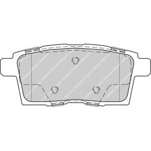 Комплект тормозных колодок, дисковый тормоз fdb4366 ferodo - MAZDA CX-7 (ER) вездеход закрытый 2.3 MZR DISI Turbo