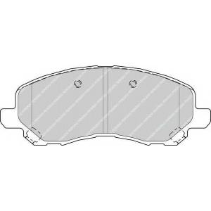 FERODO FDB4388 Колодки гальмівні дискові