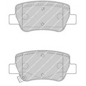 FERODO FDB4411 Гальмівні колодки, дискові