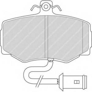 FERODO FDB468 Комплект тормозных колодок, дисковый тормоз Ягуар