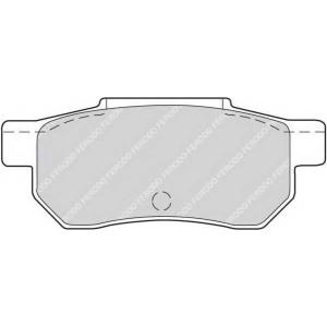 FERODO FDB472 Комплект тормозных колодок, дисковый тормоз Акура