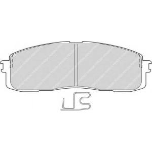 Комплект тормозных колодок, дисковый тормоз fdb477 ferodo - TOYOTA SUPRA (JZA70_, GA70_, MA70) купе 3.0 24V