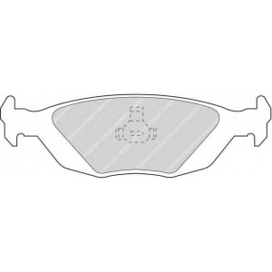 FERODO FDB506 Комплект тормозных колодок, дисковый тормоз