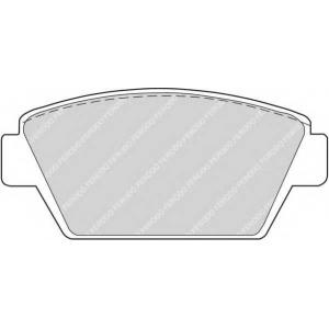 FERODO FDB507 Комплект тормозных колодок, дисковый тормоз Исузу Миди