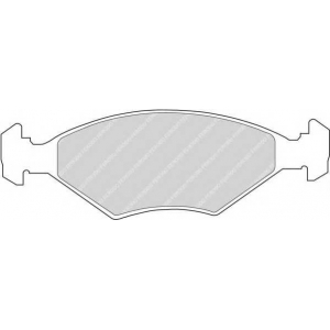 FERODO FDB519 Комплект тормозных колодок, дисковый тормоз Фиат Премио