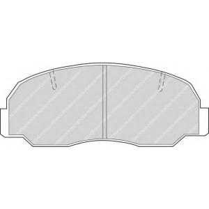 FERODO FDB532 Комплект тормозных колодок, дисковый тормоз Дайхатсу