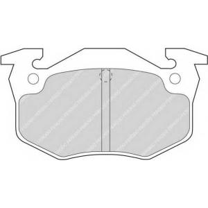 Комплект тормозных колодок, дисковый тормоз fdb558 ferodo - PEUGEOT 205 I (741A/C) Наклонная задняя часть 1.6 GTI
