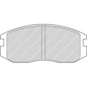 FERODO FDB759 Комплект тормозных колодок, дисковый тормоз Дайхатсу Астраи