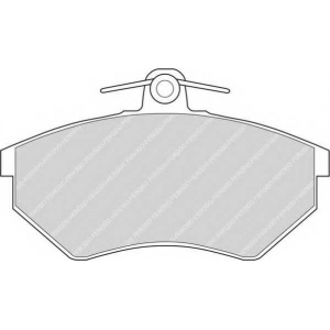 FERODO FDB775 Колодки гальмівні дискові