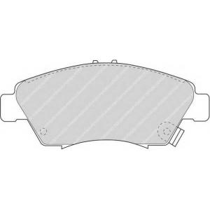 FERODO FDB776 Колодки гальмівні дискові