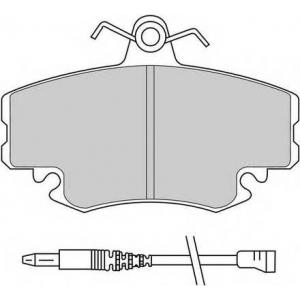 Комплект тормозных колодок, дисковый тормоз fdb845 ferodo - RENAULT SUPER 5 (B/C40_) Наклонная задняя часть 1.0 (B/C/400)