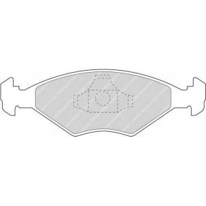 FERODO FDB896 Колодки тормозные дисковые, к-кт.