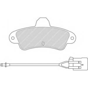 Комплект тормозных колодок, дисковый тормоз fdb913 ferodo - FORD MONDEO I (GBP) Наклонная задняя часть 1.8 TD
