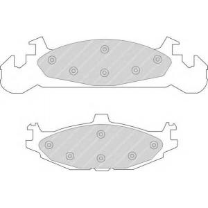 FERODO FDB922 Комплект тормозных колодок, дисковый тормоз Крайслер Le