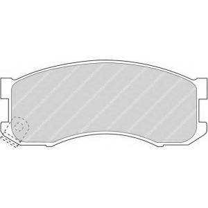 Комплект тормозных колодок, дисковый тормоз fdb939 ferodo - MAZDA 626 III (GD) седан 2.0