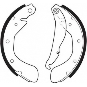 Комплект тормозных колодок fsb335 ferodo - OPEL VECTRA A Наклонная задняя часть (88_, 89_) Наклонная задняя часть 1.6 i