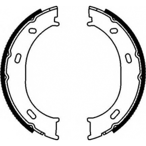 Комплект тормозных колодок, стояночная тормозная с fsb624 ferodo - MERCEDES-BENZ G-CLASS (W463) вездеход закрытый 300 GE (463.227, 463.228)