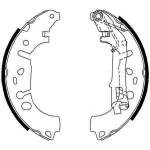 FERODO FSB682 Колодки гальмівні барабанні