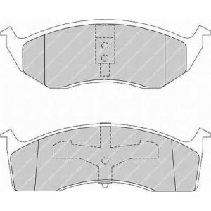 FERODO FSL1098 Комплект тормозных колодок, дисковый тормоз Крайслер Конкорд