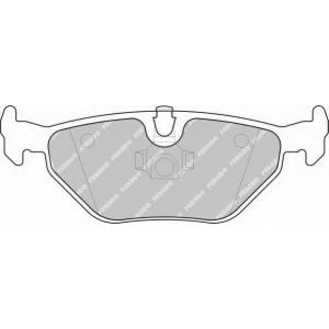 Комплект тормозных колодок, дисковый тормоз fsl1301 ferodo - BMW 3 (E46) седан 318 i