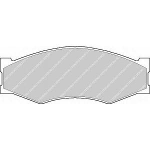 FERODO FSL340 Комплект тормозных колодок, дисковый тормоз Инфинити
