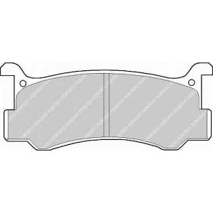 Комплект тормозных колодок, дисковый тормоз fsl482 ferodo - MAZDA 323 III (BF) седан 1.6 GT