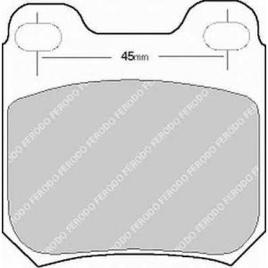 Комплект тормозных колодок, дисковый тормоз fsl525 ferodo - OPEL OMEGA A (16_, 17_, 19_) седан 1.8
