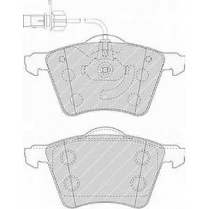 fvr1484 ferodo Комплект тормозных колодок, дисковый тормоз VW TRANSPORTER автобус 2.4 D Syncro