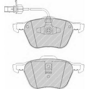 fvr1497 ferodo Комплект тормозных колодок, дисковый тормоз VW TRANSPORTER автобус 2.4 D Syncro