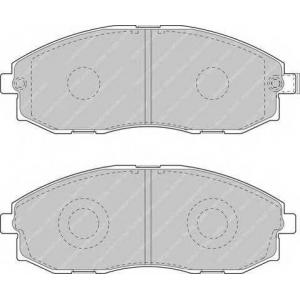 FERODO FVR1498 Комплект тормозных колодок, дисковый тормоз Хюндай Портер