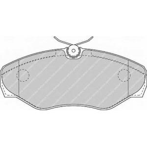 FERODO FVR1515 Гальмівні колодки, дискові