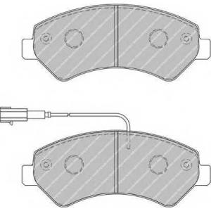 FERODO FVR1925 Комплект тормозных колодок, дисковый тормоз