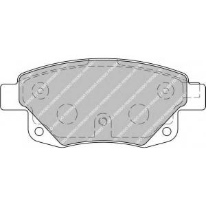 FERODO FVR1930 Колодки гальмівні дискові