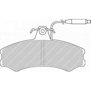 FERODO FVR287 Комплект тормозных колодок, дисковый тормоз Фиат Таленто