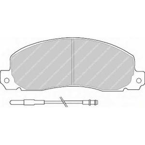 FERODO FVR414 Комплект тормозных колодок, дисковый тормоз Рено Трафик