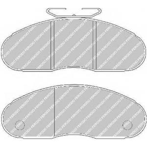 FERODO FVR791 Комплект тормозных колодок, дисковый тормоз Рено Трафик